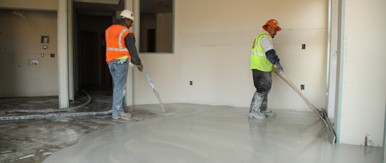 Ultra quiet floors gypsum underlayments